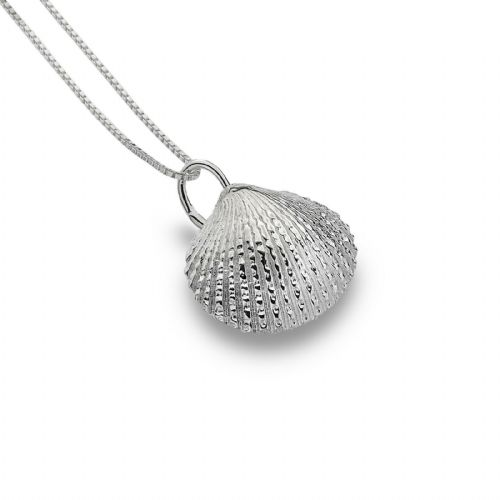Cockle Shell Pendant Sterling Silver 925 Hallmarked All Chain Lengths